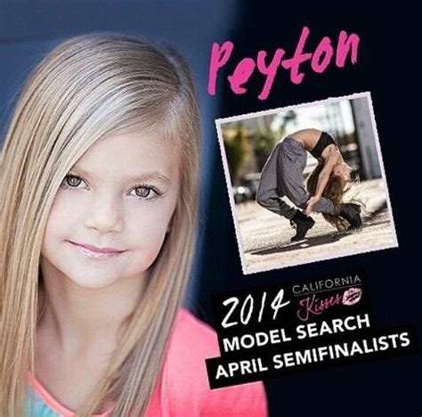 Picture Model Search 2014 California Kisses Model Search April Semifinalists Peyton Heitz