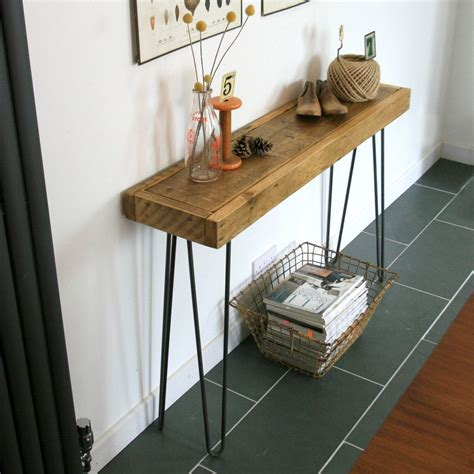 hairpin leg console table bespoke order rustic hairpin leg console table or