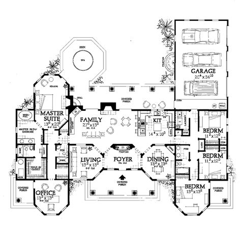 home plan search u shaped house plans google search dream home