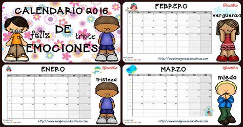 imagenes educativas marzo calendario de las emociones y planificador semanal 2016