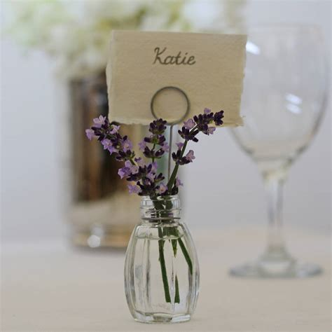 Bud Vase Place Card Holders by Set Of Four Bud Vase Name Card Holders By The Wedding Of Dreams Notonthehighstreet
