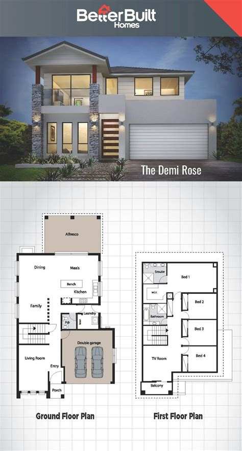 2 story villa floor plans best 25 storey house plans ideas on