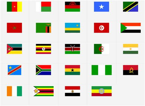 Africa: Flags   Map Quiz Game