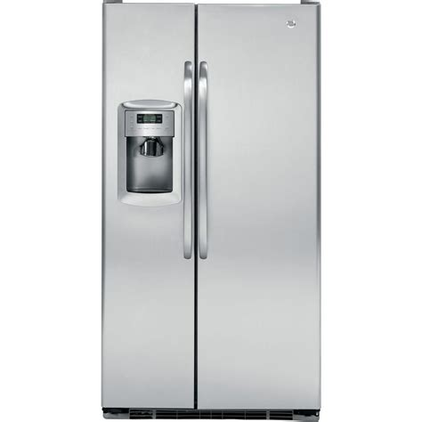 ge 22 7 cu ft side by side refrigerator in white
