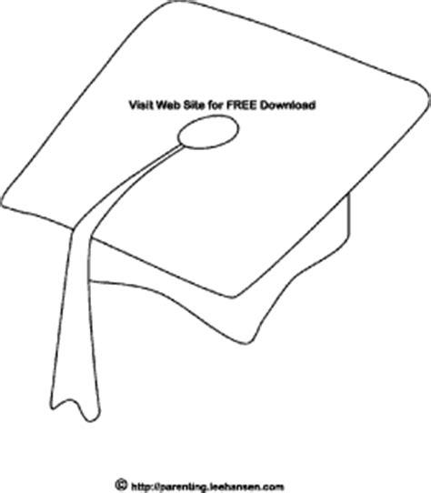 Printable School Graduation Cap Coloring Page Free Download