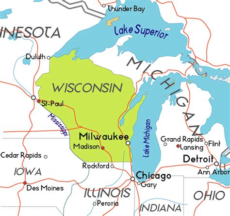 wisconsin on us map wisconsin 171 logipundit