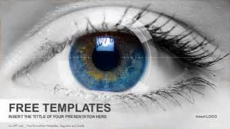 Eye Template by Colored Eye Powerpoint Templates Free