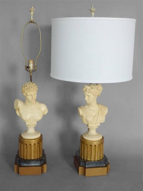 Bust Tables by Pair Of God Bust Table Ls At 1stdibs