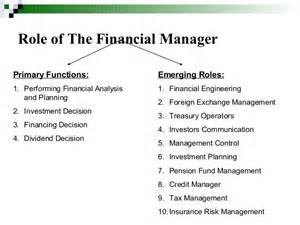 Financial Manager Duties by Finance