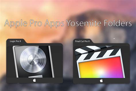 final cut pro mac yosemite apple pro apps yosemite folder icons by rafabono on deviantart