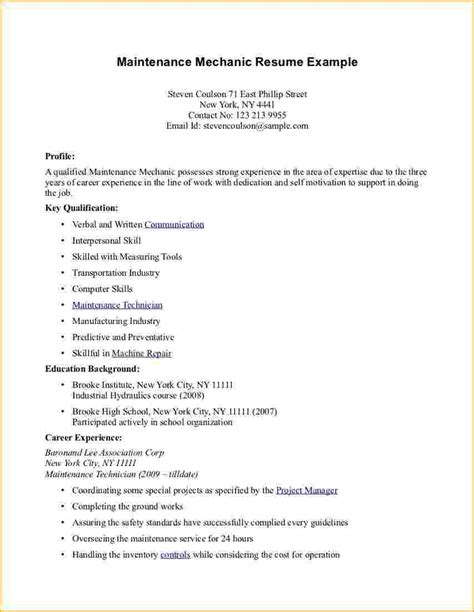 Sle Resume Profile For High School Student Sle High School Resume No Work Experience 28 Images High School Student Resume Exles High