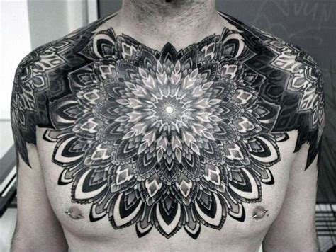 tattoo chest mandala 70 mandala tattoo designs for men symbolic ink ideas