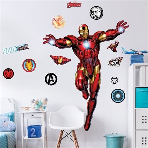 iron wall sticker iron large character wall sticker wall safe adhesive