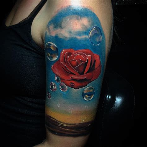 rose meditative by salvador dali sleeve best tattoo