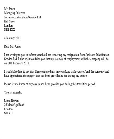 sample corporate resignation letters sample