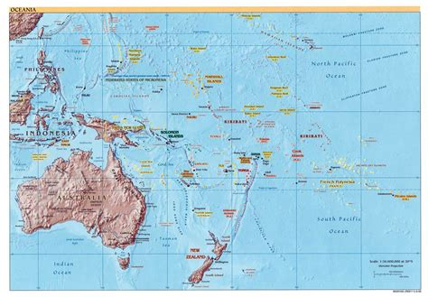 australia map with countries and capitals large detailed political and relief map of australia and