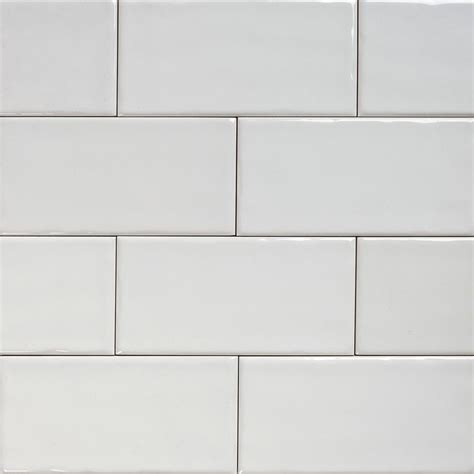 Subway white gloss wall tiles 150 215 75 classico textured in stretcher eco tile factory