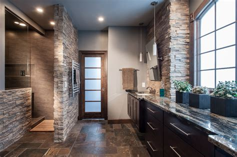 kitchens and bathrooms rock indoor stone walls kitchen traditional with none