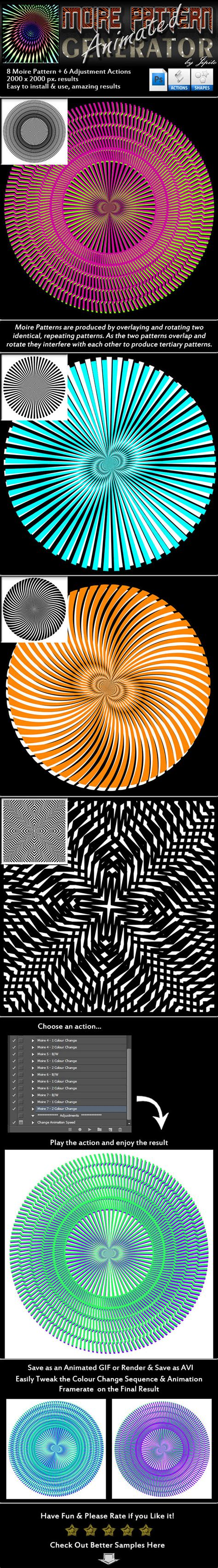 pattern generator photoshop action animated moire pattern generator by jipito graphicriver