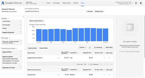 adsense keywords planner guide to google keyword planner for seo serps com