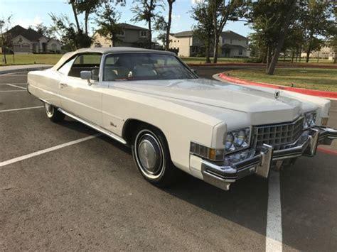 1973 Cadillac Eldorado Convertible For Sale 1973 Cadillac Eldorado Convertible Low Low Reserve