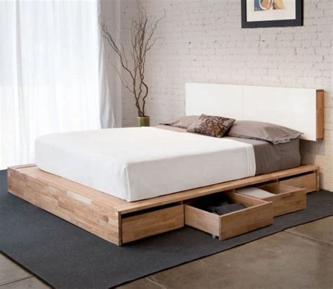Modern Bed With Drawers by How To Make Platform Bed With Storage Drawers