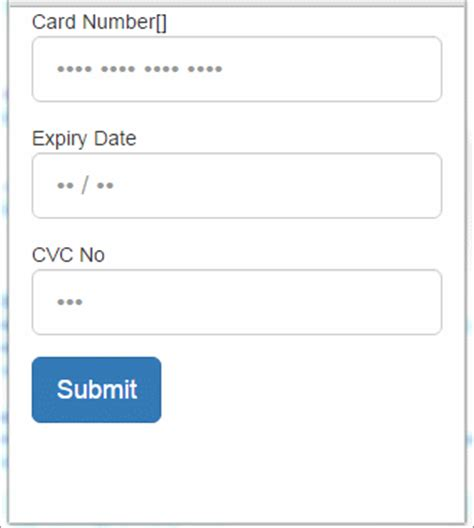 Credit Card Form Validation Script credit card data format validation using jquery in asp net