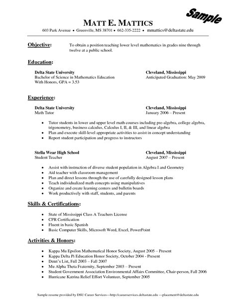 Resume Templates For Wordpad by Wordpad Resume Template Sle Resume Cover Letter Format