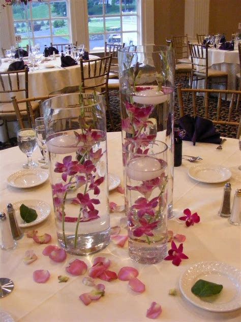 submersible flower centerpieces diy centerpiece with scattered petals things i need to make best diy