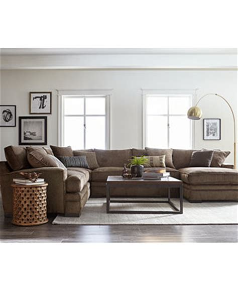 Sectional Sofas Macys by Closeout Teddy Fabric Sectional Collection Created For