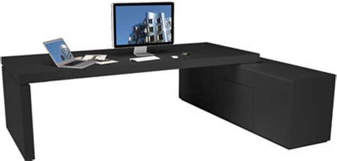 schreibtisch weiß schwarz hochglanz chefzimmer schreibtisch praefectus minimalistischer