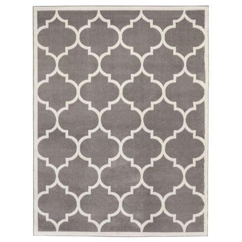 contemporary gray rugs ottomanson contemporary moroccan trellis gray 5 ft x 7 ft area rug ptr1553 5x7 the home depot