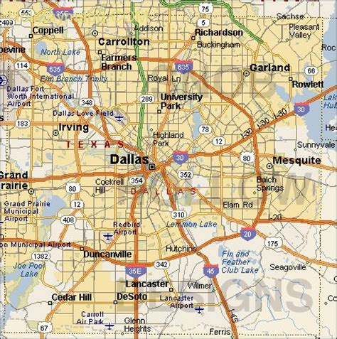 dallas county texas map dallas map map travel holidaymapq