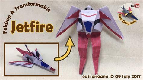 origami transformer tutorial origami how to make a papercraft origami transformer