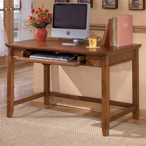 furniture cross island computer desk in medium