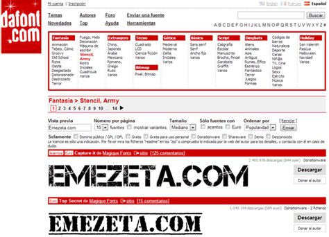 dafont google identificar fuente o tipograf 237 a emezeta com