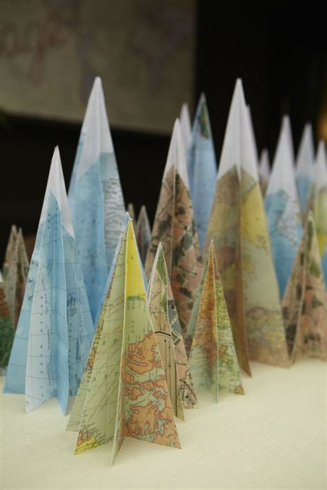How To Make Paper Mountain - diy projects crafts map crafts vintage maps and bon