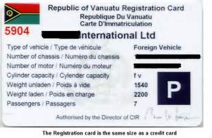 how to register a new car vanuatu registration of vehicle and motorcycle register