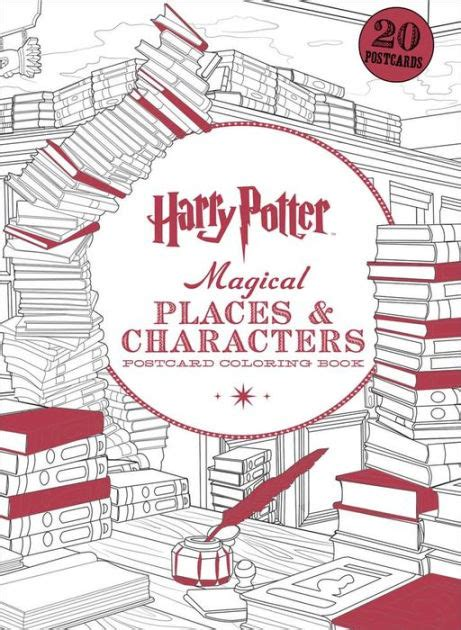 harry potter coloring books barnes and noble harry potter magical places characters postcard coloring