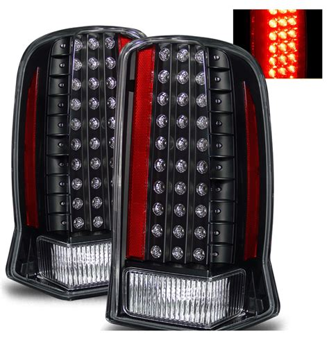 cadillac escalade tail lights 02 06 cadillac escalade euro style led tail lights black