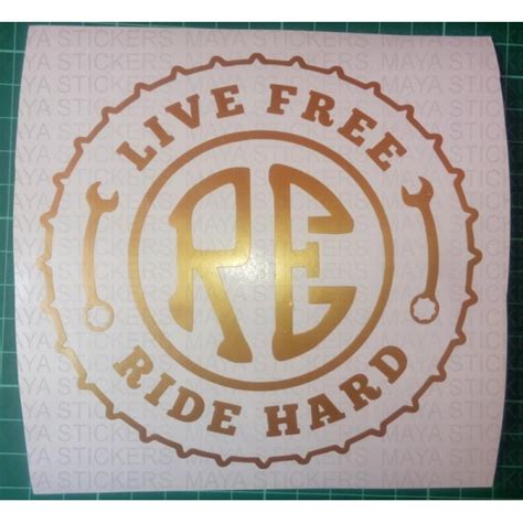 Find Where Live For Free Live Free Ride Custom Sticker For Royal Enfield Bullet Bikes