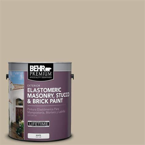 behr premium 1 gal ms 43 sandstone elastomeric masonry