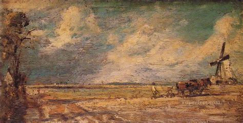 Landscape Artists Constable Ploughing Landscape Constable