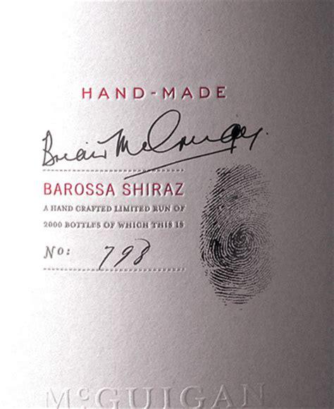 Mcguigan Handmade Shiraz - mcguigan handmade shiraz vins philippe dandurand