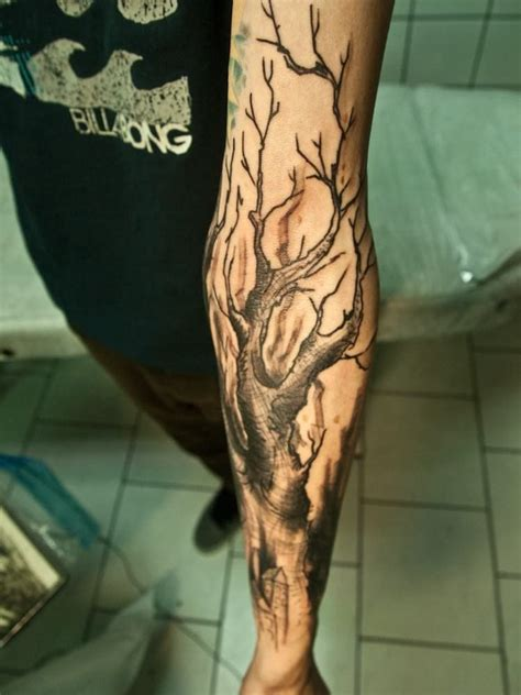 tree tattoo on arm tree tattoos arm sleeve creativefan