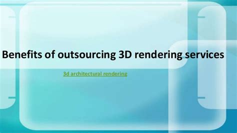 3d Outsourcing
