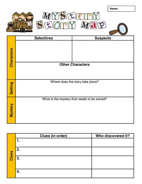 investigating the mystery genre scholastic com 4th worksheet elements of a story worksheet grass fedjp