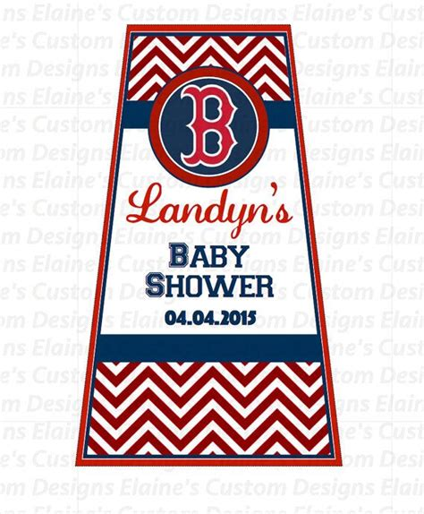 Boston Baby Shower by Sanitizer Favor Label Boston Sox Baby Shower