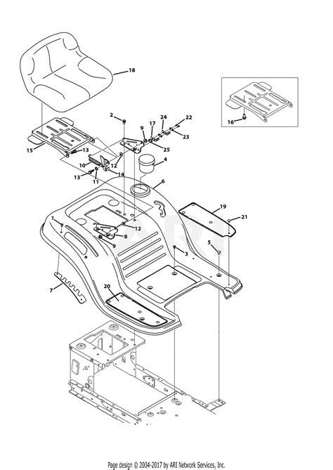 mtd ans  parts diagram  seat fender