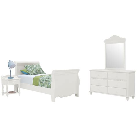 city view bedroom set lauren white sleigh bedroom